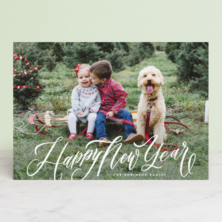 """""""Elegant Script Merry Christmas"""" - Holiday Petite Cards in Winter by Wildfield Paper Co.."""