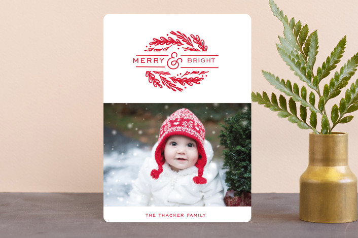 """""""dynamic foliage"""" - Holiday Petite Cards in Cherry by Cheer Up Press."""
