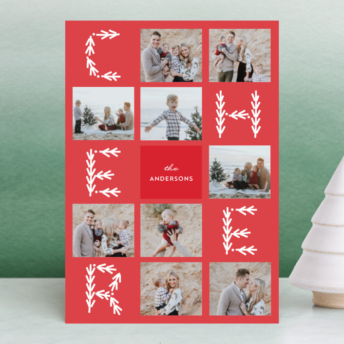 """""""Merry Collage"""" - Holiday Petite Cards in Candy Cane by Anupama."""
