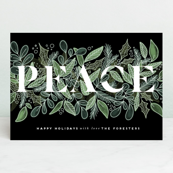 """""""Garden Of Peace"""" - Holiday Petite Cards in Evergreen by Leah Bisch."""
