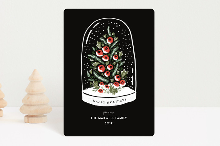 """""""Winter's Greeting"""" - Holiday Petite Cards in Ink by iamtanya."""