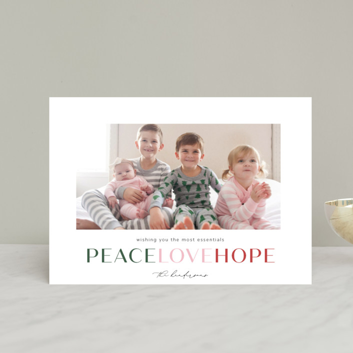 """""""the most essentials"""" - Holiday Petite Cards in Pine by Aspacia Kusulas."""