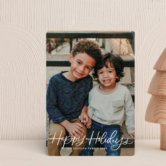 """""""holiday brush"""" - Holiday Petite Cards in Sugar by Kristen Smith."""