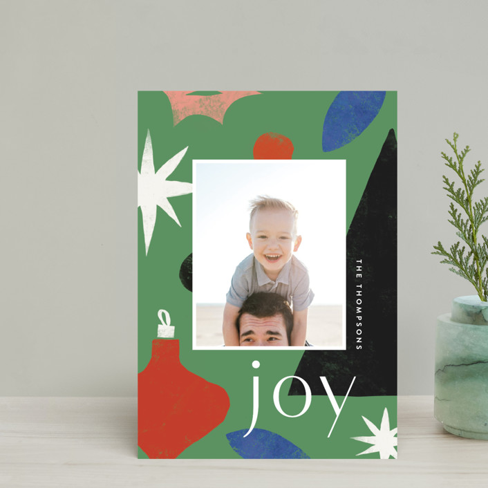 """Cut Tree"" - Modern Holiday Petite Cards in Pine by Amy Kross."
