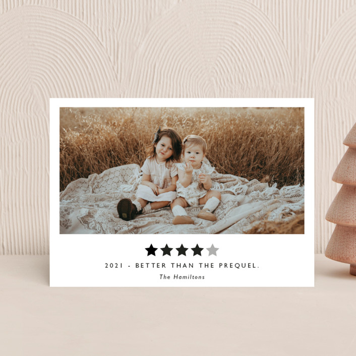 """""""Rating 2020"""" - Funny Holiday Petite Cards in Snow by Caitlin Considine."""