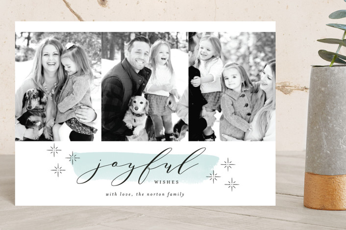 """""""Merry Stars"""" - Holiday Petite Cards in Frost by Kelly Schmidt."""