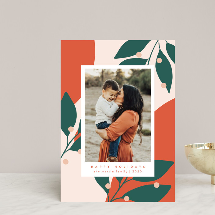 """Bold and Bright"" - Modern Holiday Petite Cards in Mandarin by Kelly Schmidt."