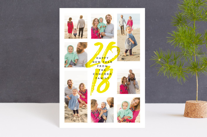 """""""Eight is great"""" - Modern Holiday Petite Cards in sunny by Lea Delaveris."""