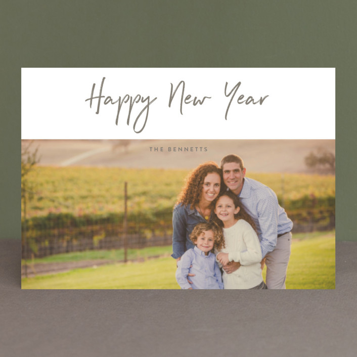 """""""Modern sentiment"""" - Holiday Petite Cards in Soapstone by Stacey Meacham."""