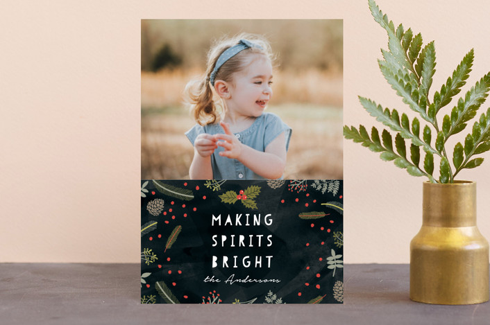 """Bright Spirit"" - Holiday Petite Cards in Coal by iamtanya."
