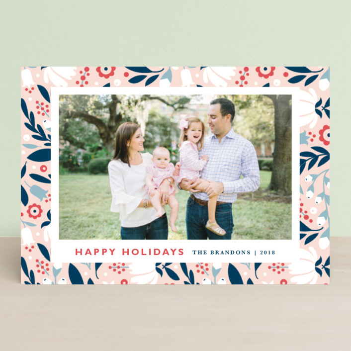 """""""Mod Flor"""" - Holiday Petite Cards in Wildflower by Kristen Smith."""