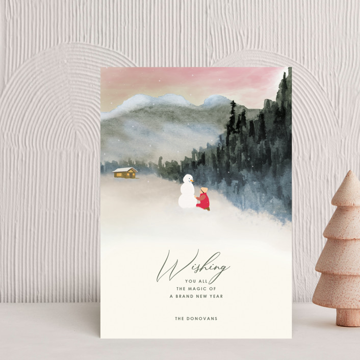 """""""Seasonal Magic"""" - Holiday Petite Cards in Rosy Glow by Shannon."""
