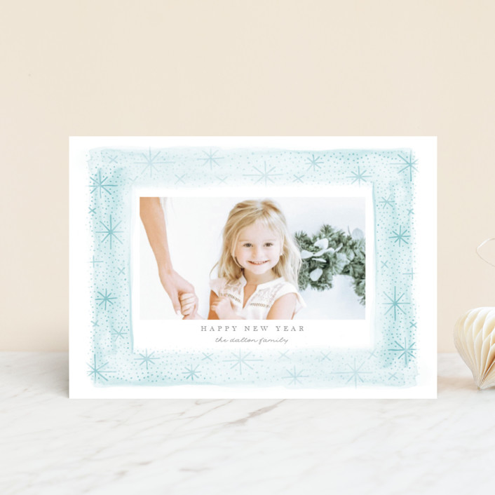 """""""Snow Frame"""" - Bohemian Holiday Petite Cards in Frost by JeAnna Casper."""