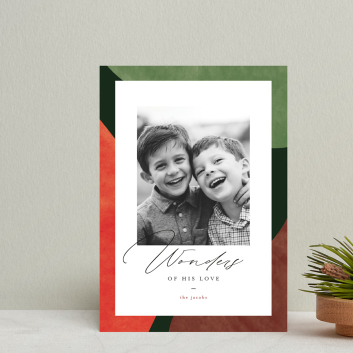 """""""Colorful Wonders"""" - Modern Holiday Petite Cards in Wreath by Pixel and Hank."""