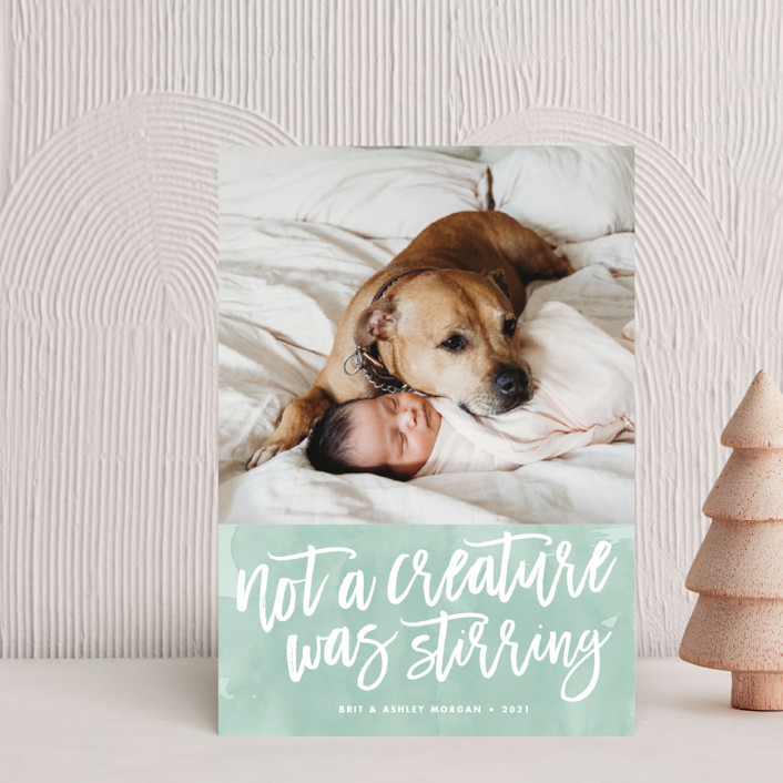 """""""Not a Creature was Stirring..."""" - Holiday Petite Cards in Icicle by Paper and Parcel."""