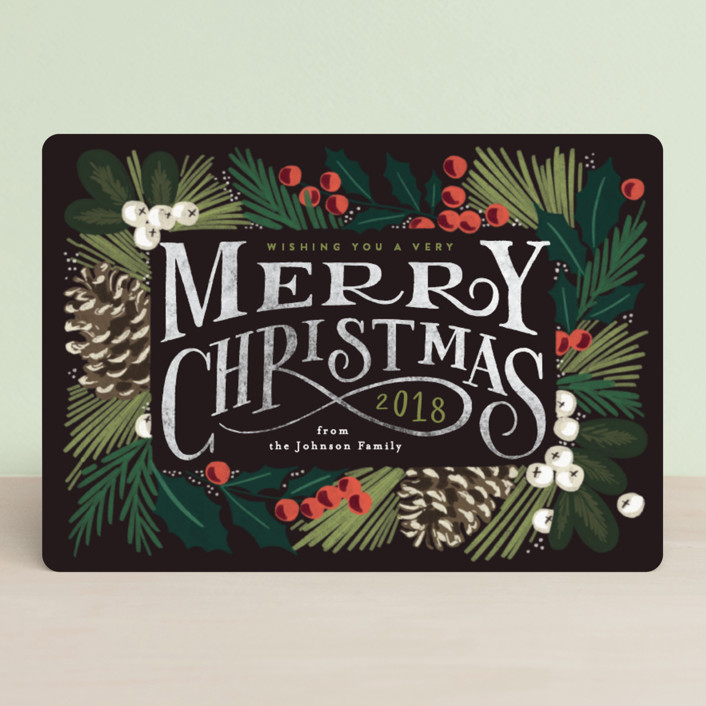 """Forest Frame"" - Vintage Holiday Petite Cards in Ebony by Alethea and Ruth."