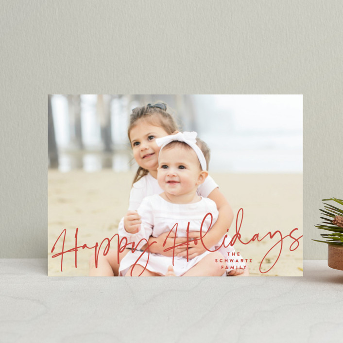 """""""Luces"""" - Holiday Petite Cards in Candy Cane by carly reed walker."""