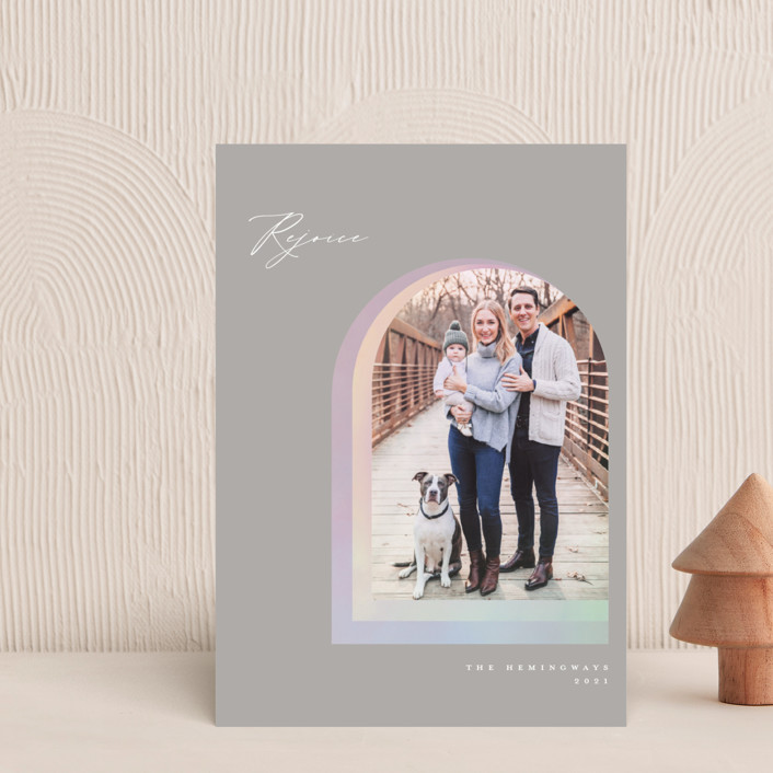 """""""Soft Arch"""" - Modern Holiday Petite Cards in Smoke by Vivian Yiwing."""