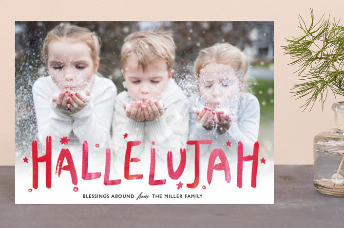 """""""Hallelujah Cheer"""" - Holiday Petite Cards in Cardinal by Mansi."""