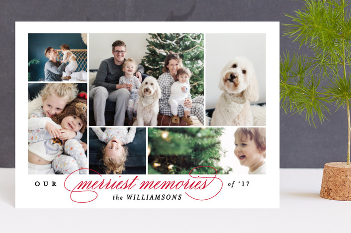 """Merriest memories"" - Holiday Petite Cards in Cherry by Kimberly FitzSimons."