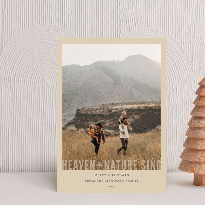 """""""Heaven + Nature"""" - Holiday Petite Cards in Cream by Pistols."""