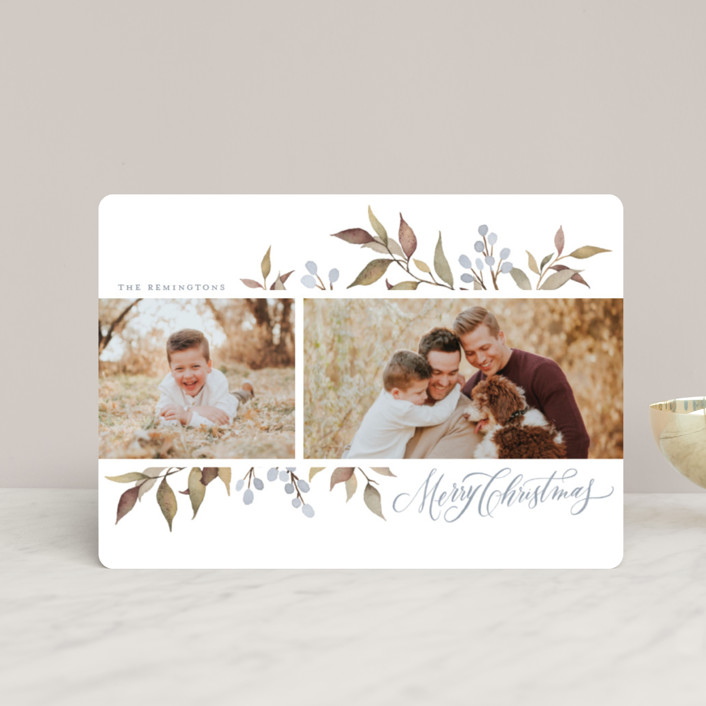 """""""Olive + Berries"""" - Holiday Petite Cards in Frost by Wildfield Paper Co.."""