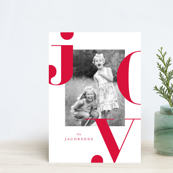 """Graphic Joy"" - Holiday Petite Cards in Merlot by Kristie Kern."