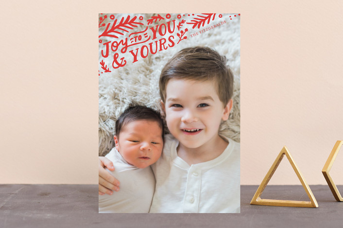 """To You and Yours"" - Holiday Petite Cards in Crimson by Frooted Design."