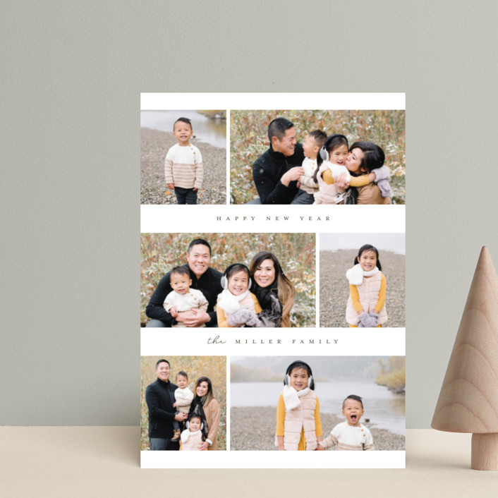 """""""So Much Happiness"""" - Holiday Petite Cards in Stone by peony papeterie."""