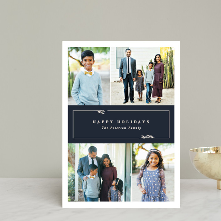 """""""Kent"""" - Holiday Petite Cards in Navy by Robert and Stella."""