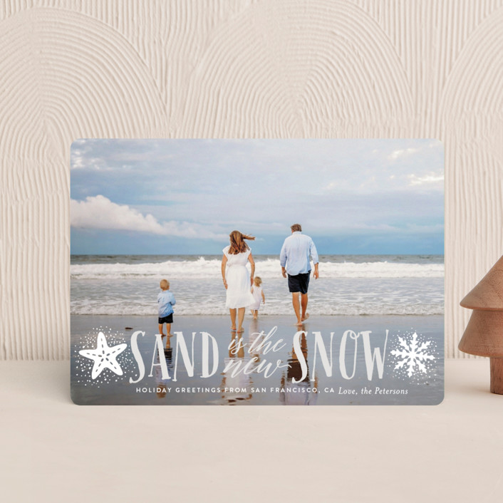 """Sand and Snow"" - Funny Holiday Petite Cards in Overcast by Ali Means."