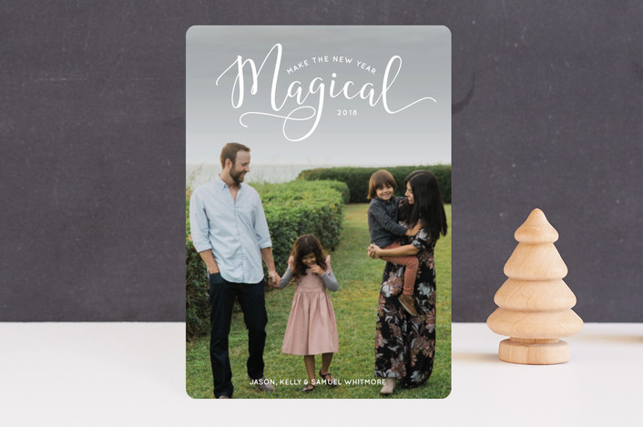 """""""Make the Holidays Magical"""" - Holiday Petite Cards in Snow by Laura Hamm."""