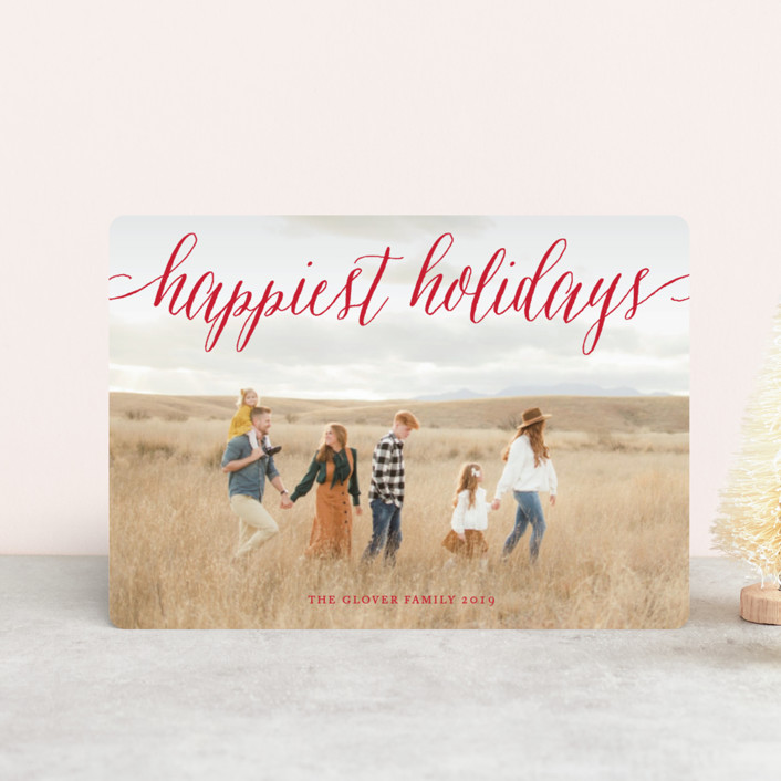"""Pure Happy"" - Holiday Petite Cards in Champagne by Alston Wise."