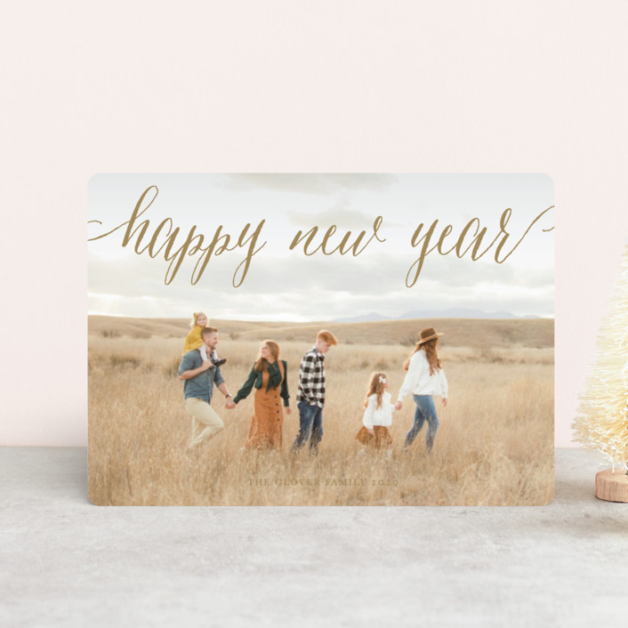 """""""Pure Happy"""" - Holiday Petite Cards in Champagne by Alston Wise."""
