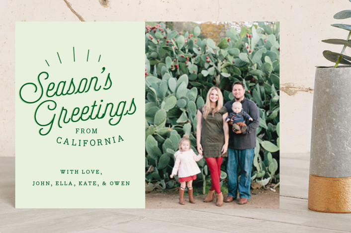 """Season's Greetings From.."" - Holiday Petite Cards in Pine Grove by Allison Cornu."