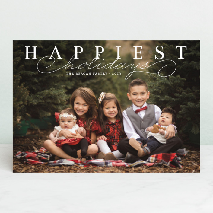 """Happiest Classic"" - Holiday Petite Cards in Snow by Alston Wise."