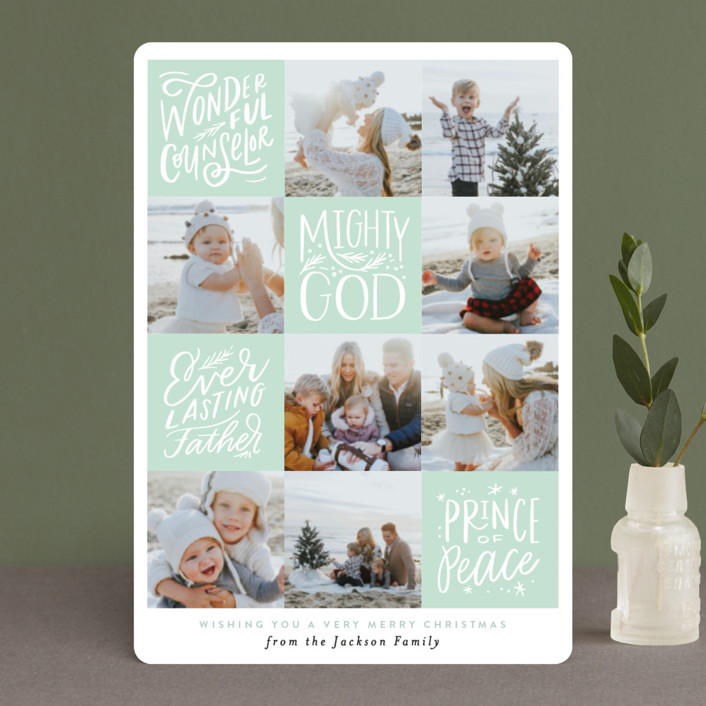 """His Name will be called Squares"" - Holiday Petite Cards in Leaf by Alethea and Ruth."