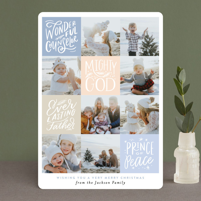 """""""His Name will be called Squares"""" - Holiday Petite Cards in Mint by Alethea and Ruth."""