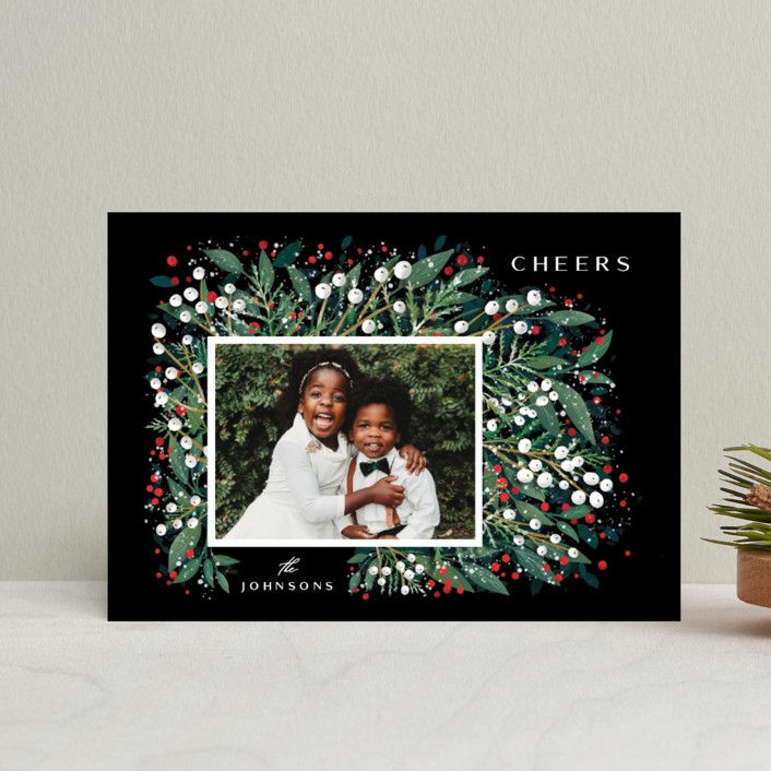 """First Flakes"" - Holiday Petite Cards in Berry by Ana Sharpe."