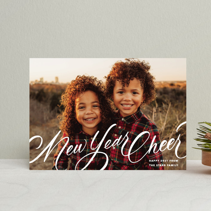 """""""Script Christmas"""" - Holiday Petite Cards in Winter by Up Up Creative."""