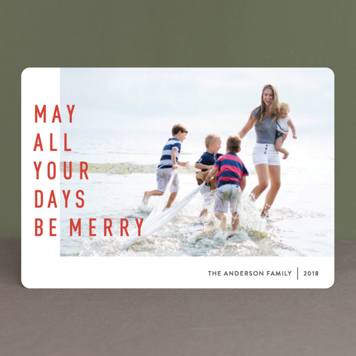 """May They Be Merry"" - Holiday Petite Cards in Spicy by Abby Munn."