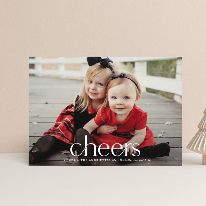 """""""Timeless Christmas"""" - Holiday Petite Cards in Snowfall by Melissa Egan of Pistols."""
