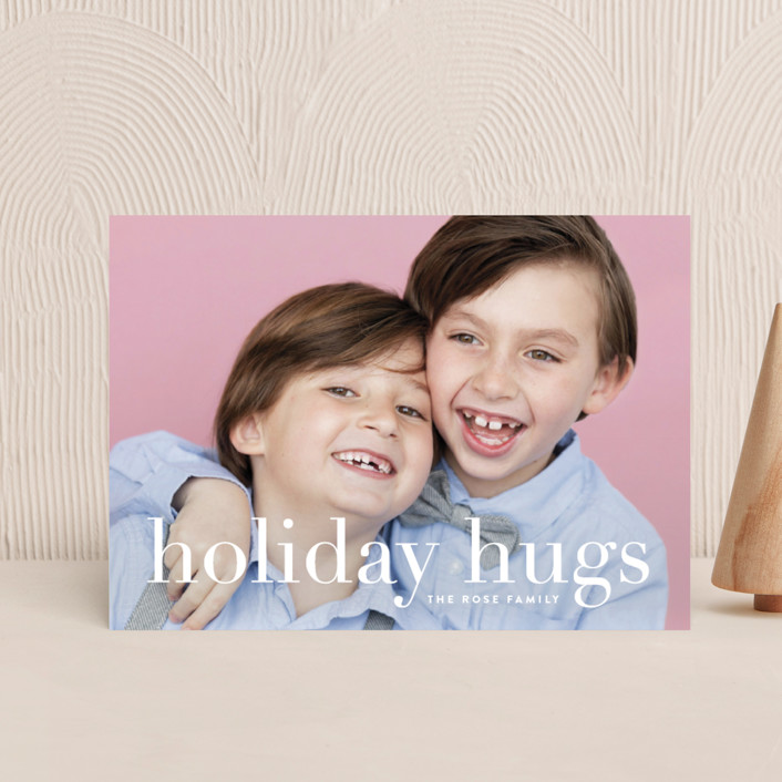 """""""Sending Hugs"""" - Holiday Petite Cards in Snow by Up Up Creative."""