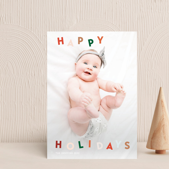 """""""Dancing holidays"""" - Holiday Petite Cards in Candy by Yaling Hou Suzuki."""