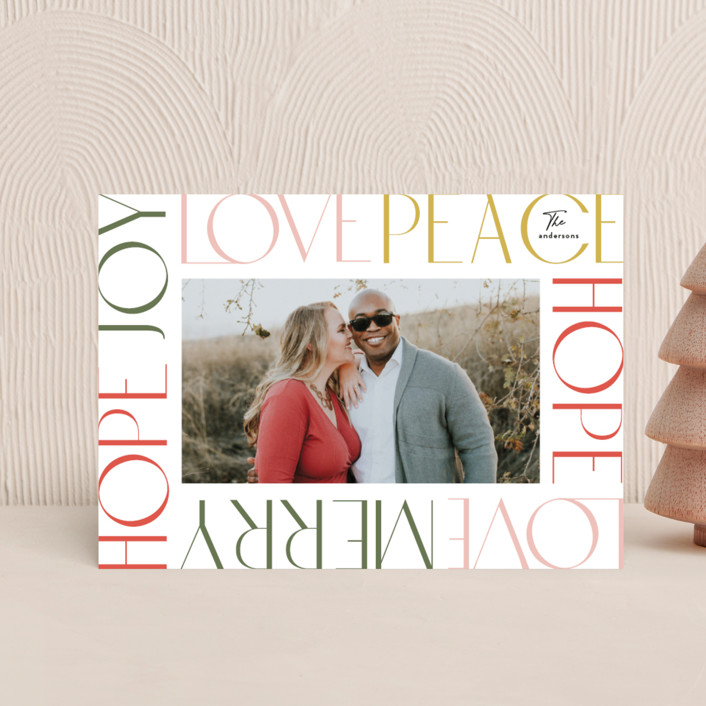 """Wordy Frame"" - Holiday Petite Cards in Festival by Phrosne Ras."