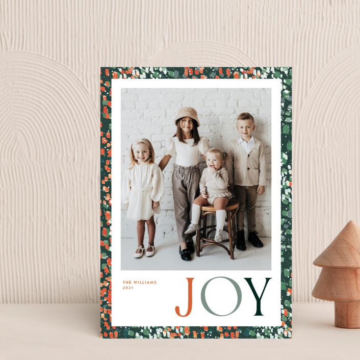 """joyful dash"" - Holiday Petite Cards in Holly Berry by Robin Ott."