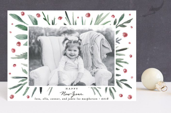 """""""Loosely Painted"""" - Holiday Petite Cards in Leaf by Everett Paper Goods."""