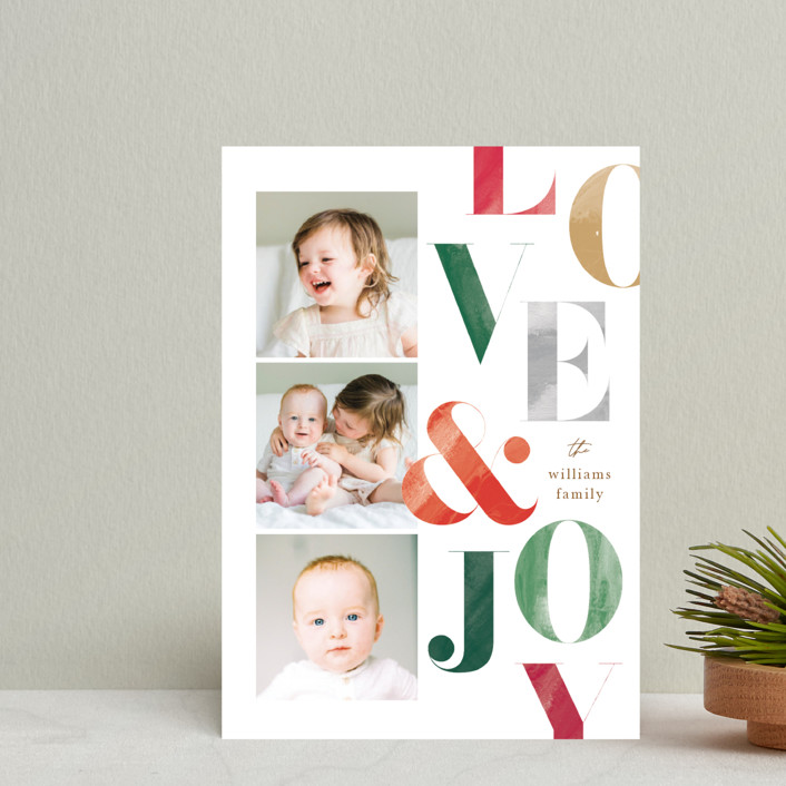 """""""Painted Type"""" - Holiday Petite Cards in Snow by Robert and Stella."""