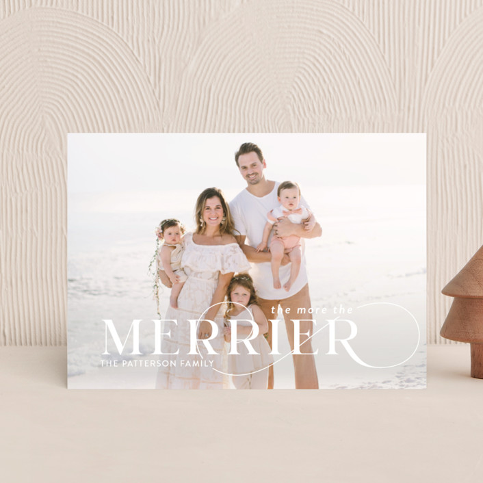 """""""More and Merrier"""" - Holiday Petite Cards in Snow by Yaling Hou Suzuki."""