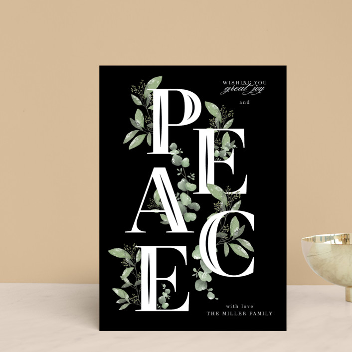 """Vining Peace"" - Holiday Petite Cards in Holly by Grace Kreinbrink."